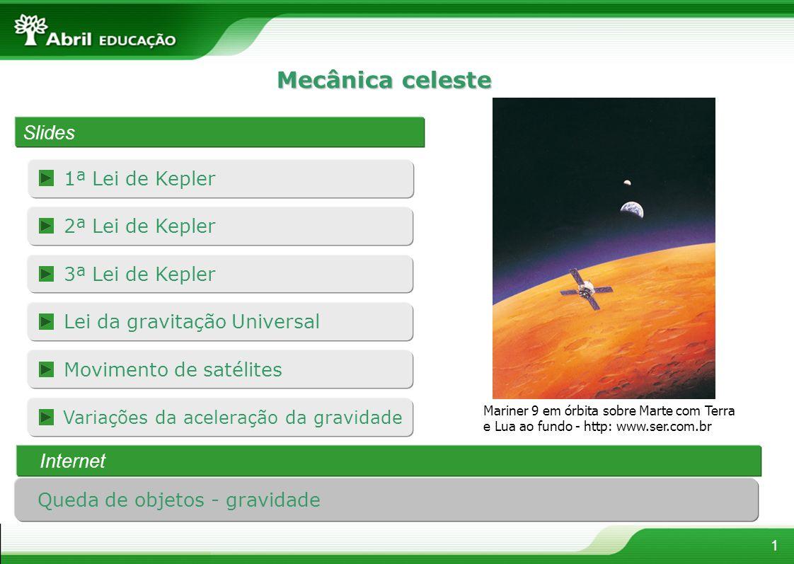 Mecânica celeste Slides 1ª Lei de Kepler 2ª Lei de Kepler