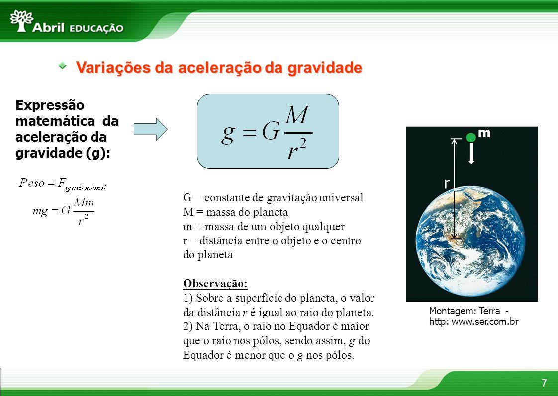 Variações da aceleração da gravidade