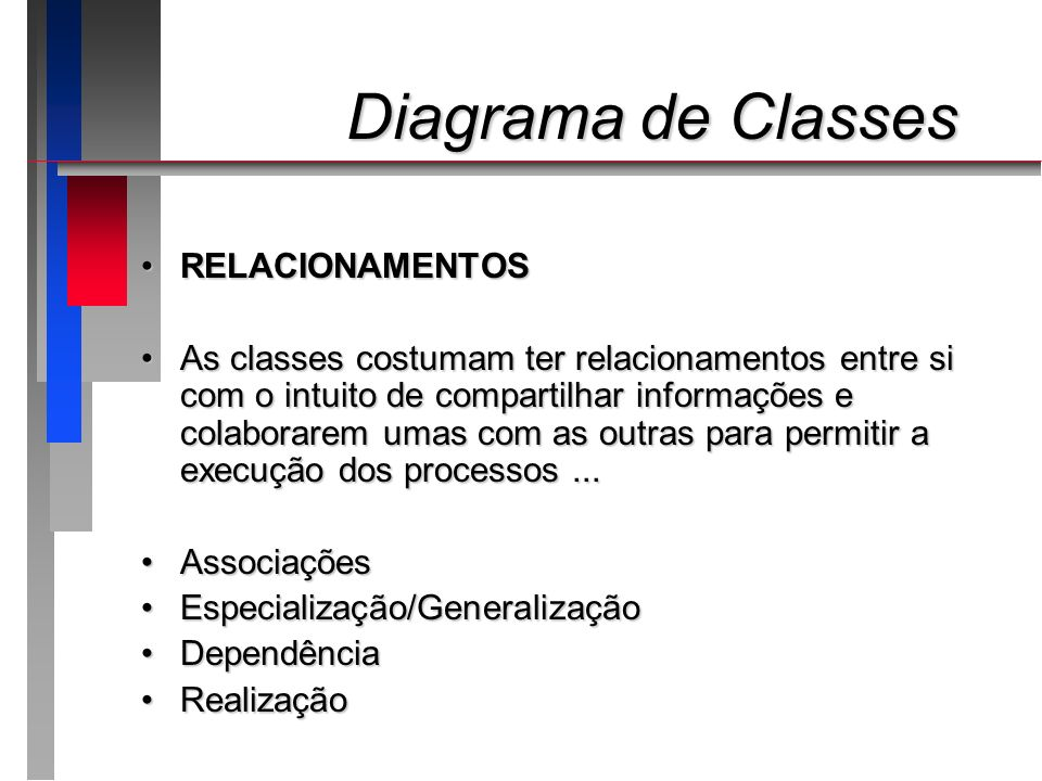 Diagrama de Classes RELACIONAMENTOS