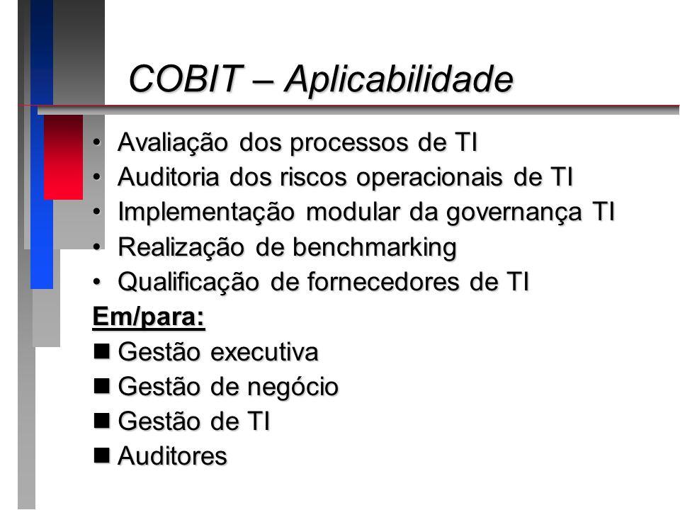 COBIT – Aplicabilidade