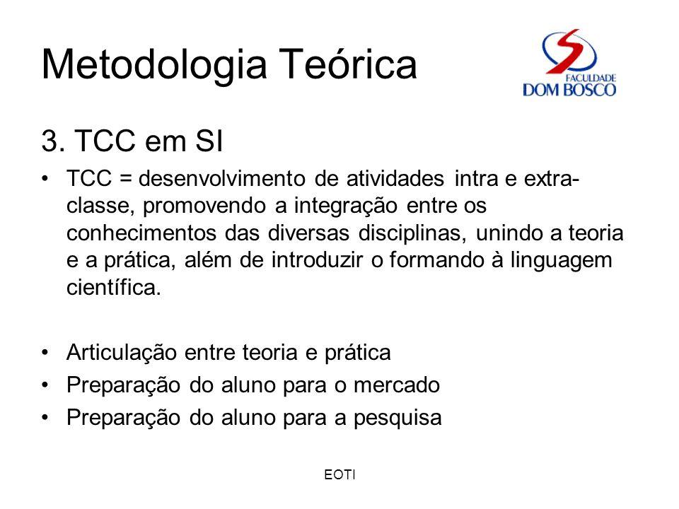 Metodologia Teórica 3. TCC em SI
