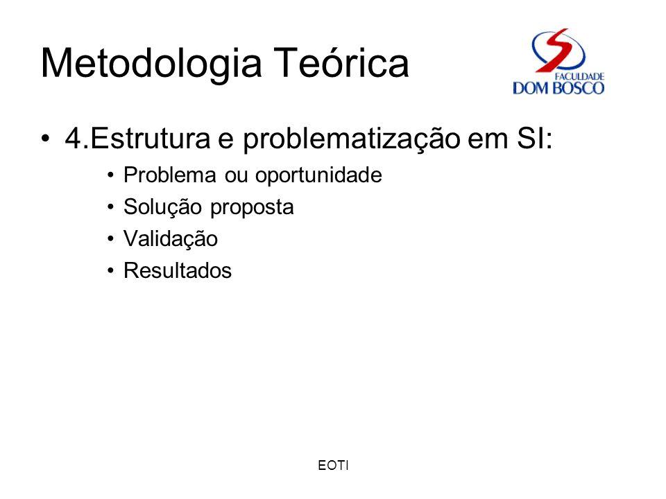 Metodologia Teórica 4.Estrutura e problematização em SI: