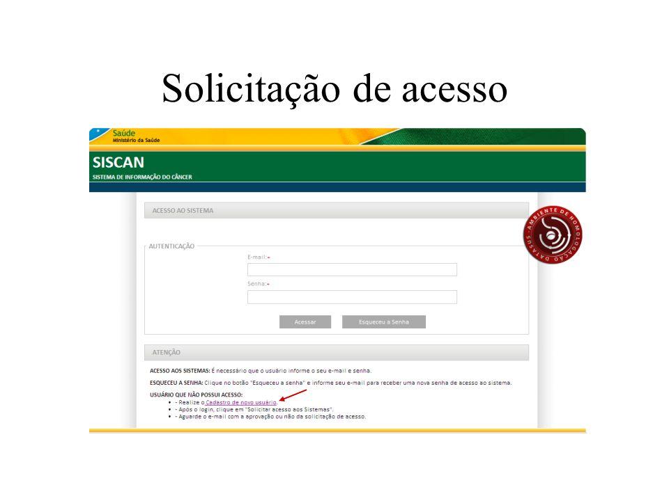 Solicitação de acesso