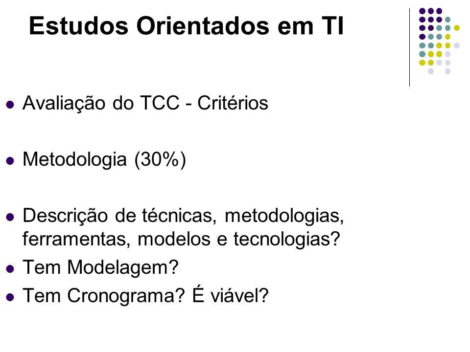 Estudos Orientados em TI