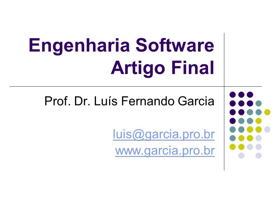 Engenharia Software Artigo Final