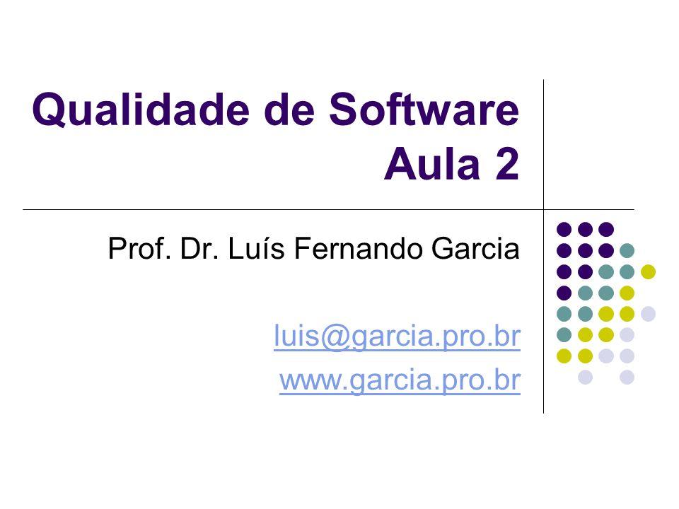 Qualidade de Software Aula 2