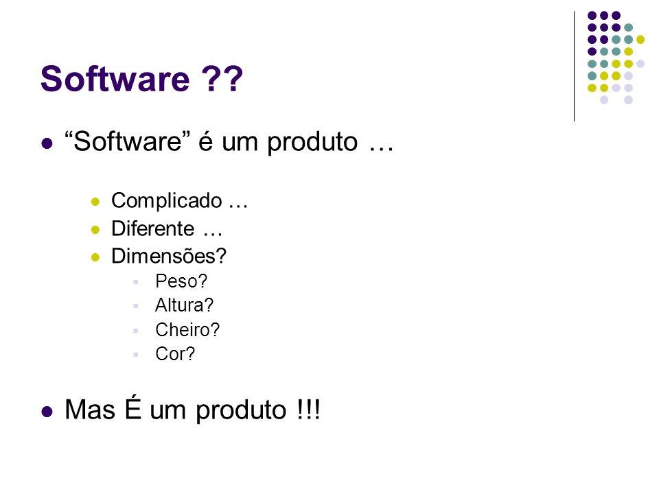 Software Software é um produto … Mas É um produto !!!