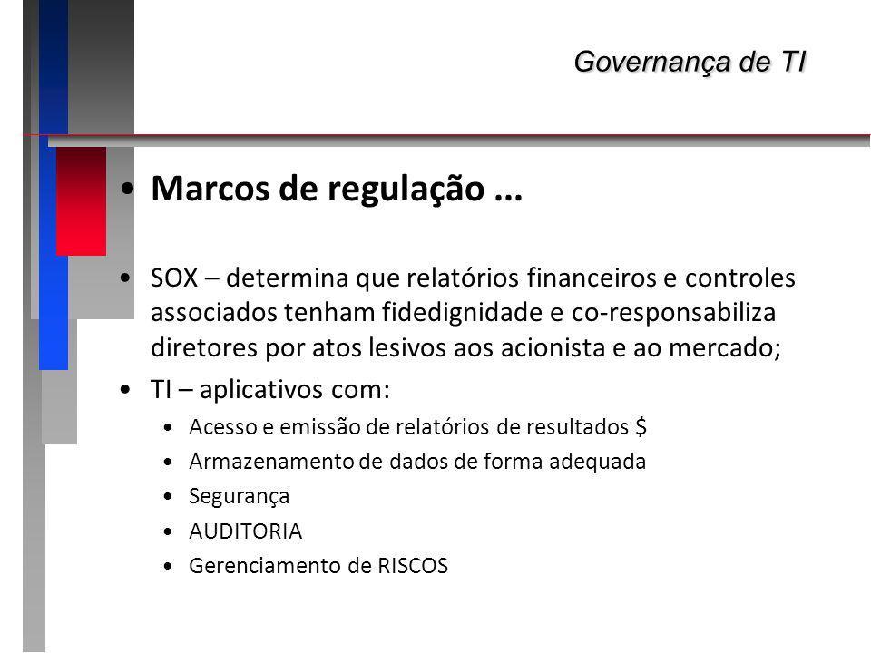 Governança de TI Marcos de regulação ...