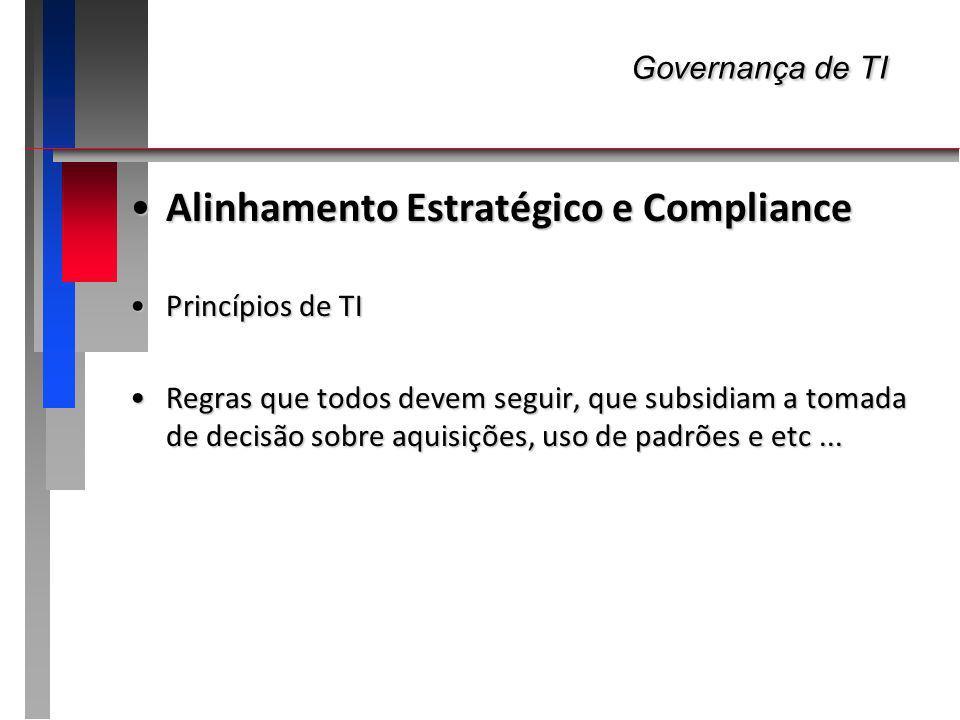 Governança de TI Alinhamento Estratégico e Compliance Princípios de TI
