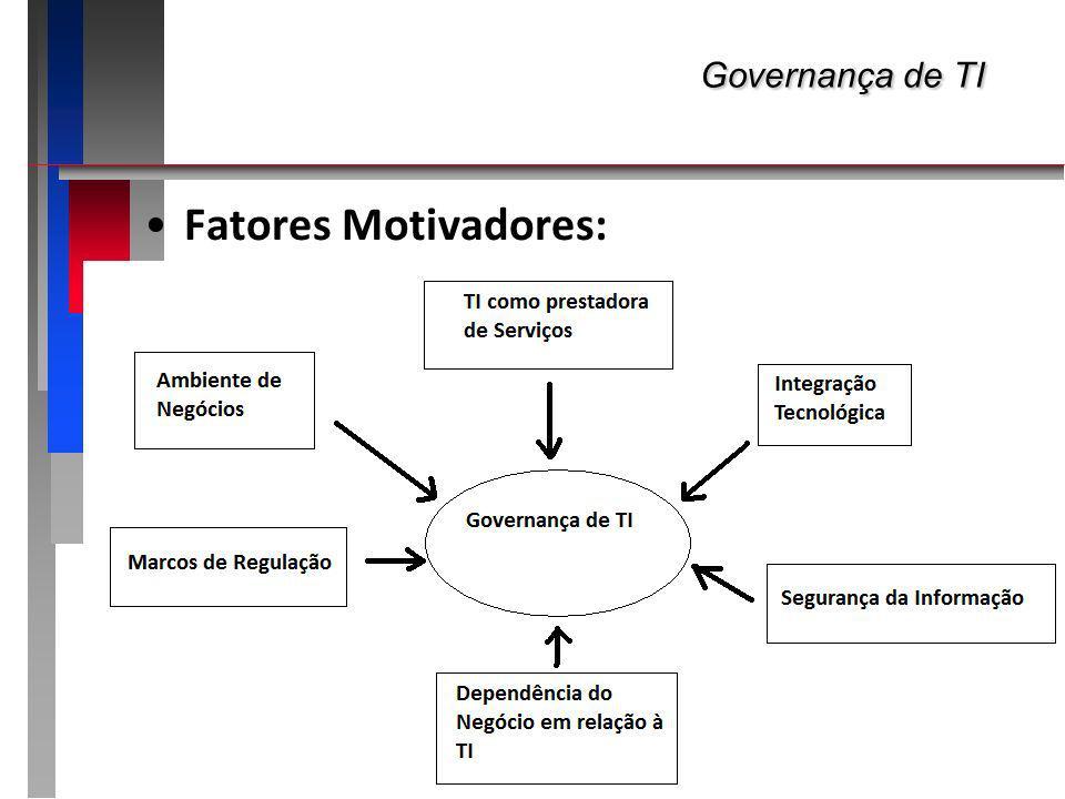 Governança de TI Fatores Motivadores: