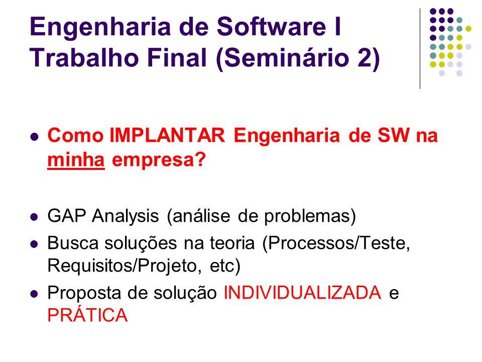 Engenharia de Software I Trabalho Final (Seminário 2)
