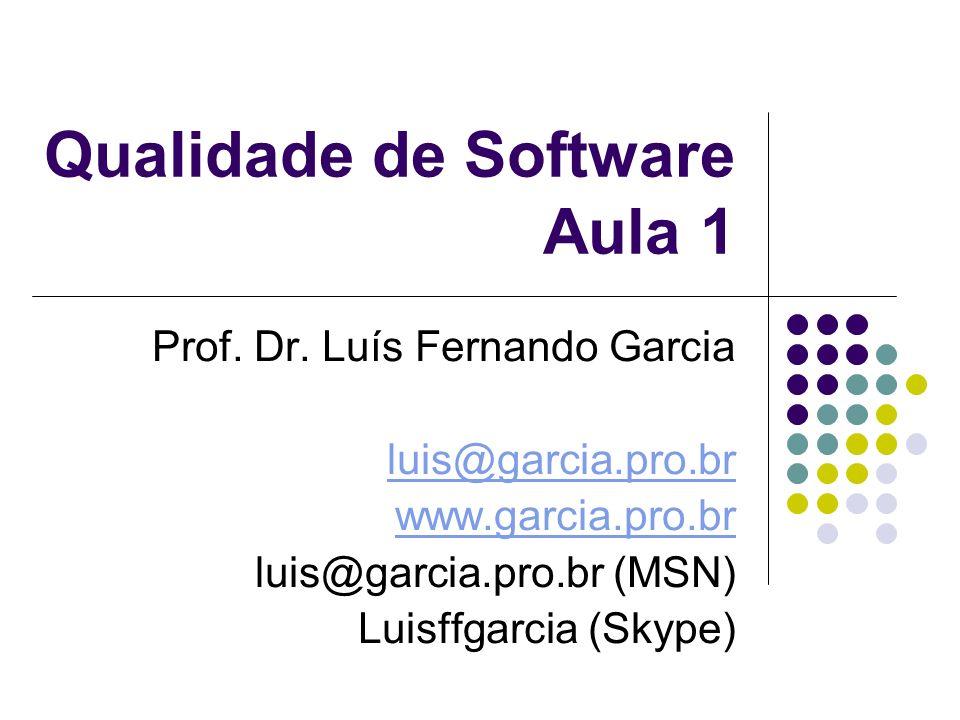 Qualidade de Software Aula 1