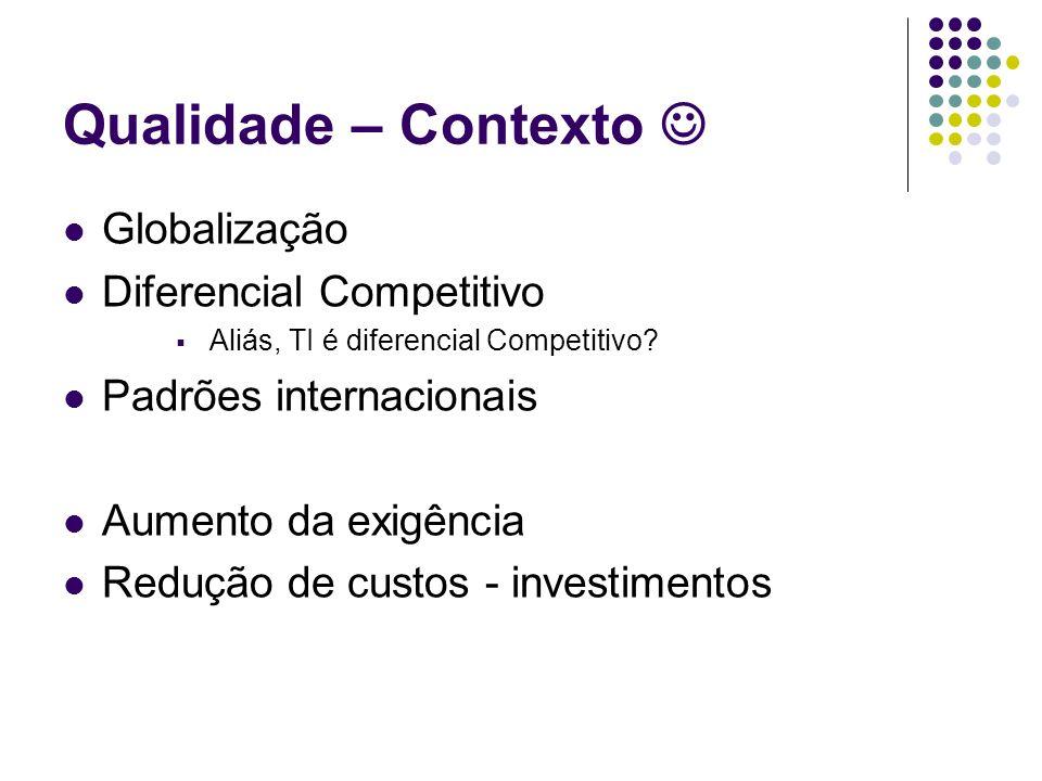 Qualidade – Contexto  Globalização Diferencial Competitivo
