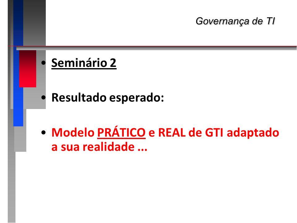 Governança de TI Seminário 2 Resultado esperado: