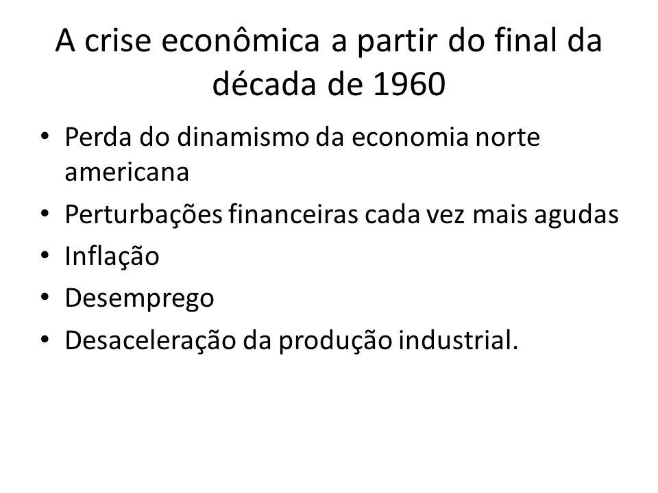A crise econômica a partir do final da década de 1960