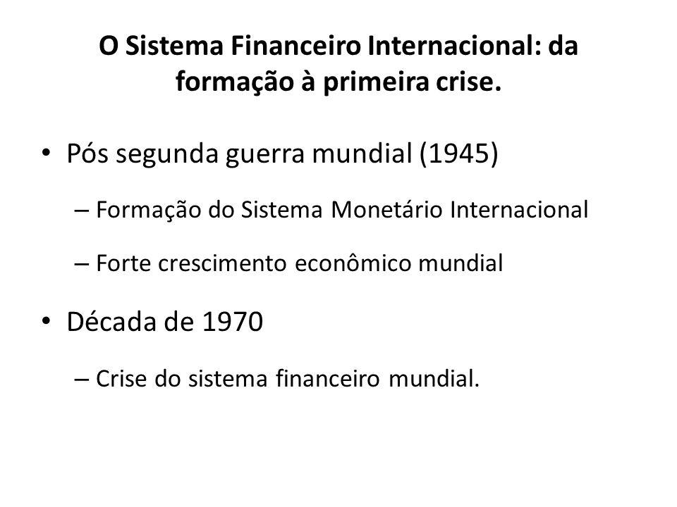 O Sistema Financeiro Internacional: da formação à primeira crise.