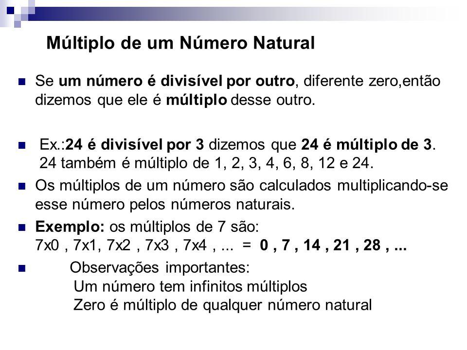 Múltiplo de um Número Natural