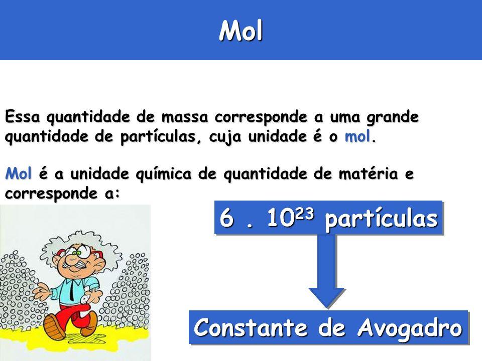 Mol 6 . 1023 partículas Constante de Avogadro