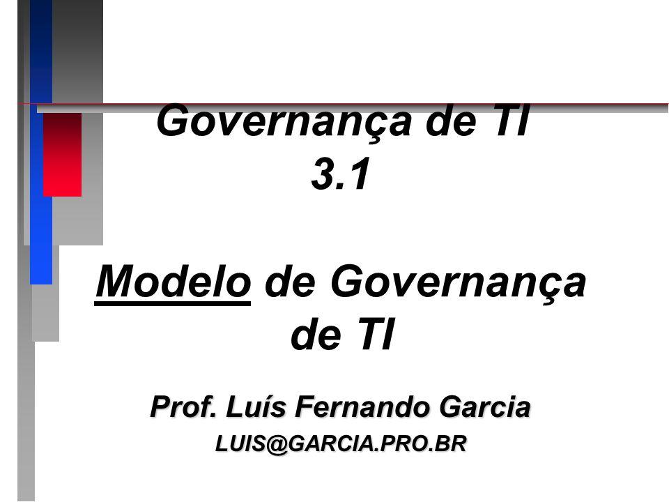 Governança de TI 3.1 Modelo de Governança de TI