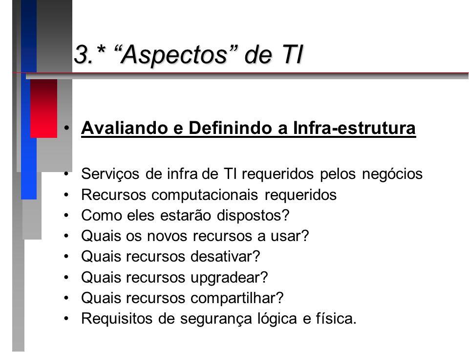 3.* Aspectos de TI Avaliando e Definindo a Infra-estrutura