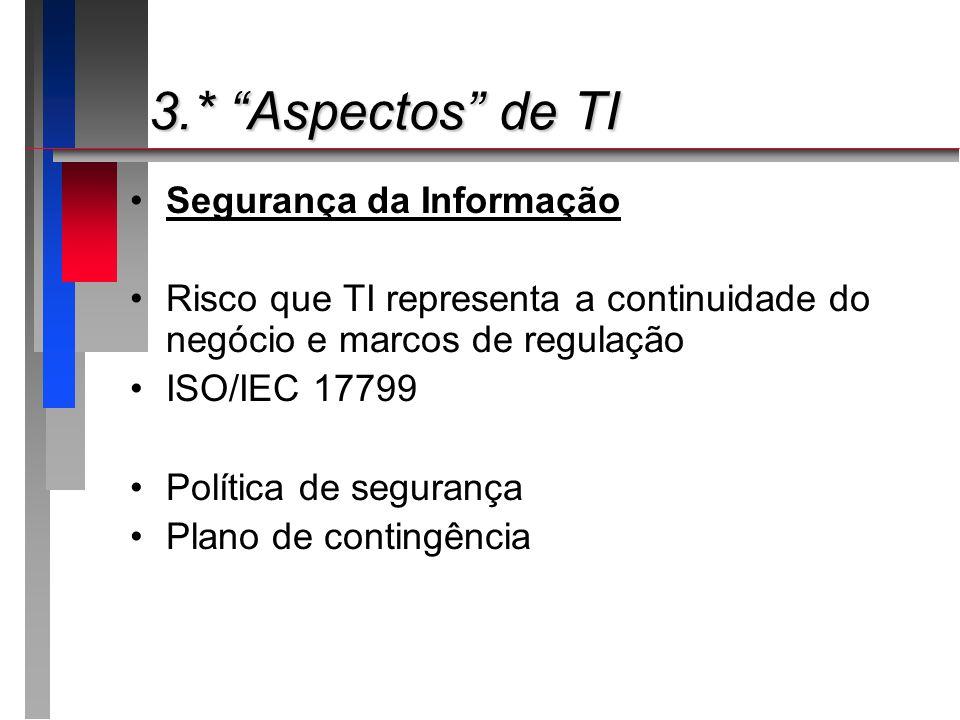 3.* Aspectos de TI Segurança da Informação