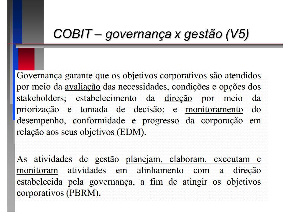 COBIT – governança x gestão (V5)