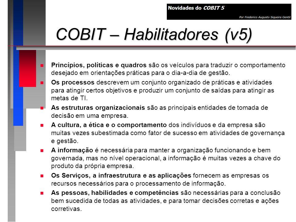 COBIT – Habilitadores (v5)