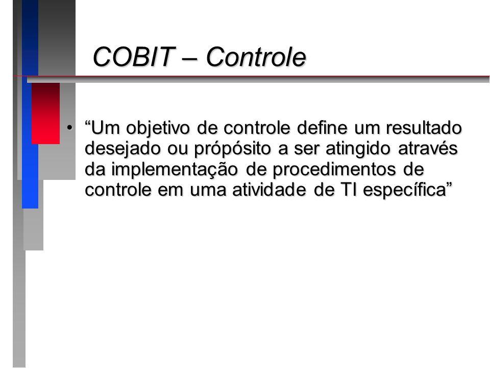 COBIT – Controle