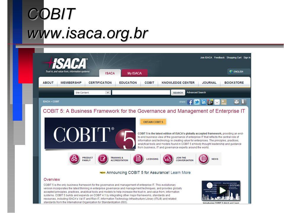 COBIT www.isaca.org.br Apresentando o roteiro da apresentação: