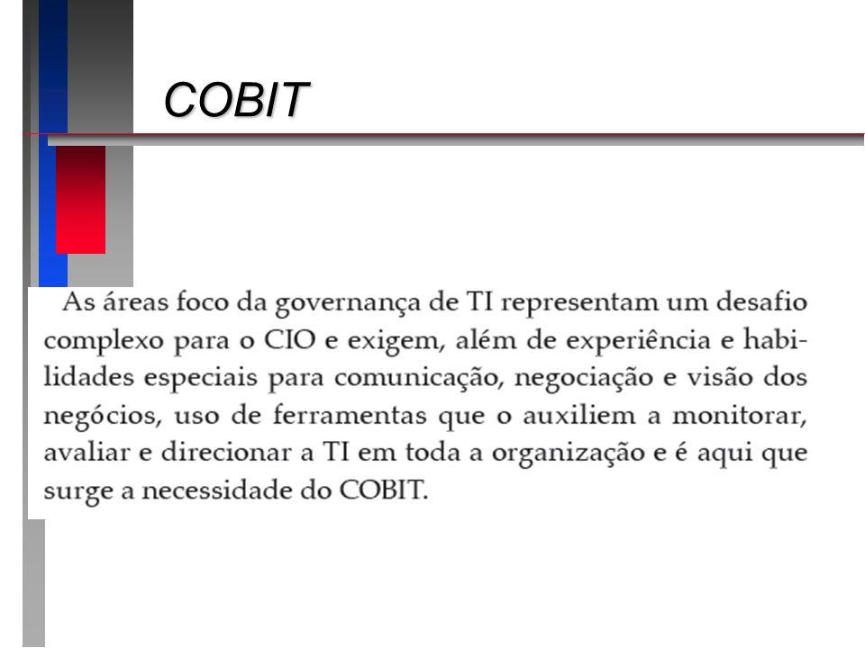 COBIT Apresentando o roteiro da apresentação: