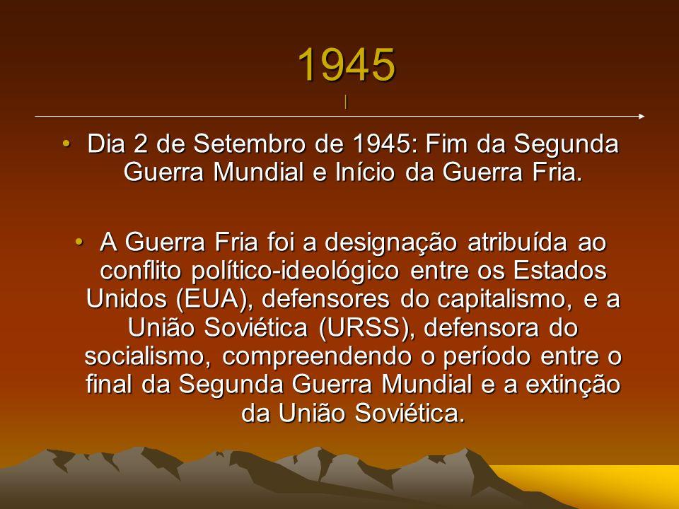 1945 | Dia 2 de Setembro de 1945: Fim da Segunda Guerra Mundial e Início da Guerra Fria.