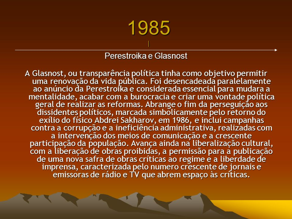 Perestroika e Glasnost