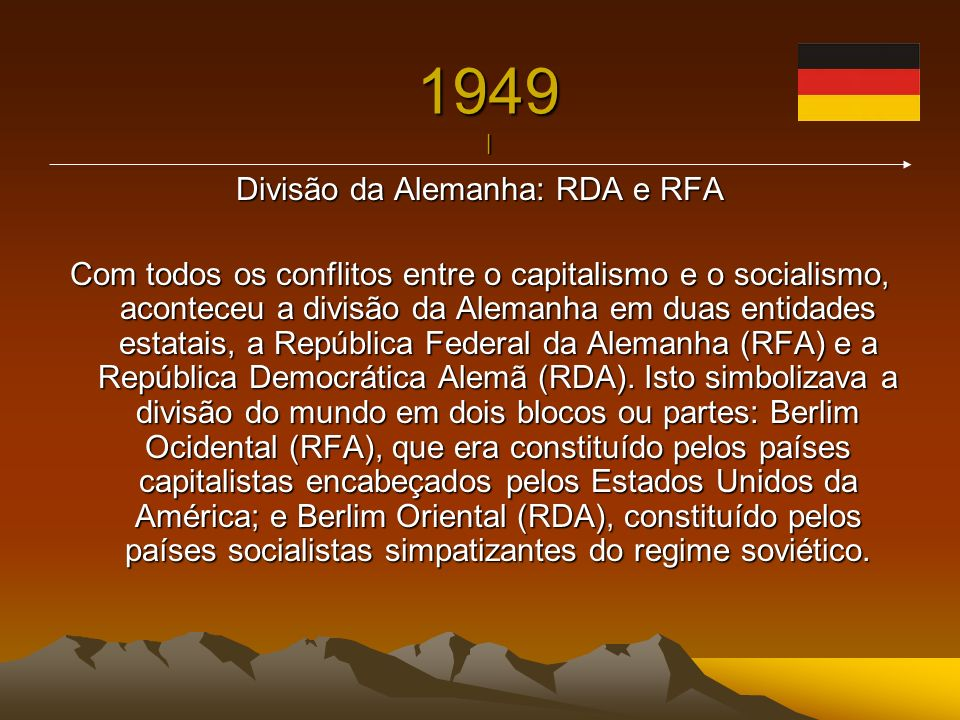 Divisão da Alemanha: RDA e RFA