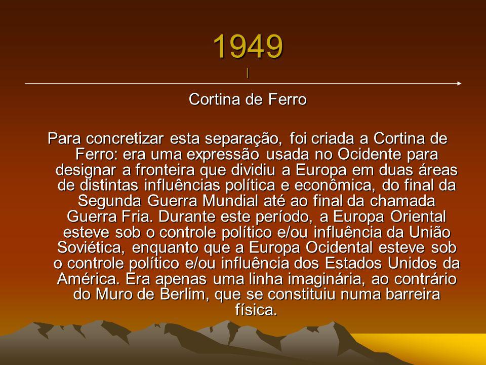 1949 | Cortina de Ferro.
