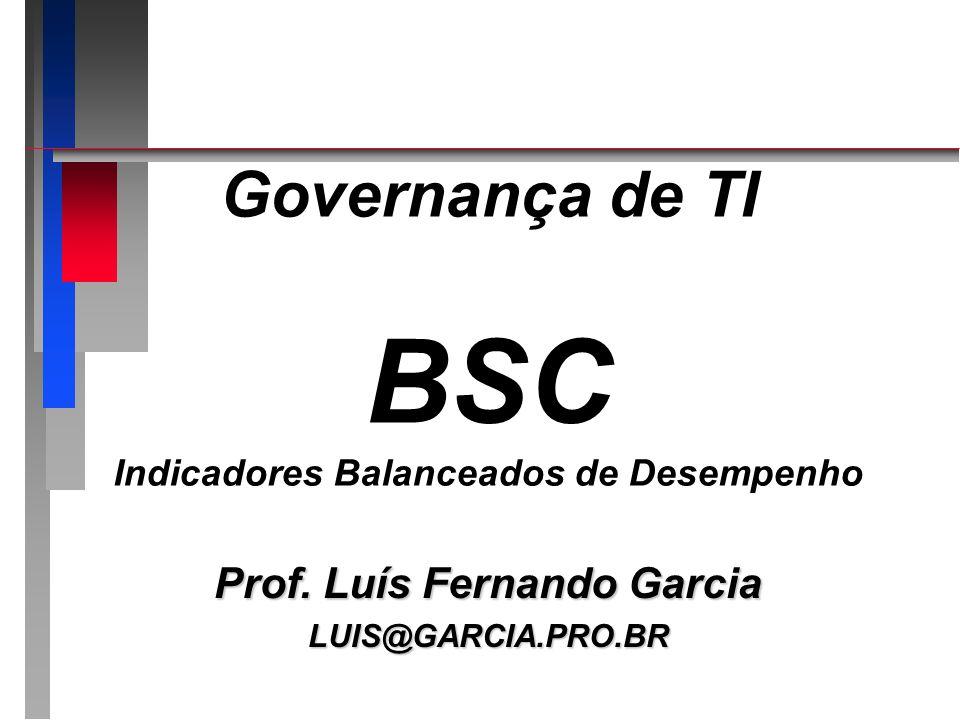 Governança de TI BSC Indicadores Balanceados de Desempenho
