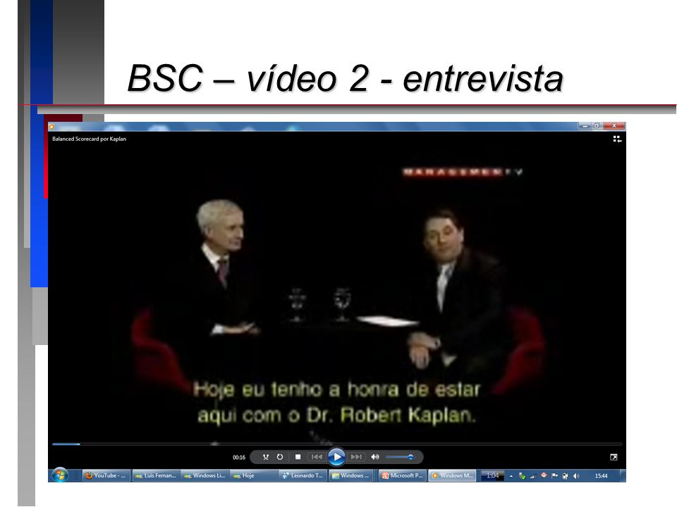 BSC – vídeo 2 - entrevista