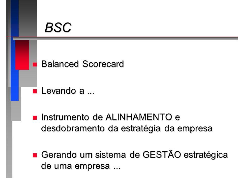 BSC Balanced Scorecard Levando a ...