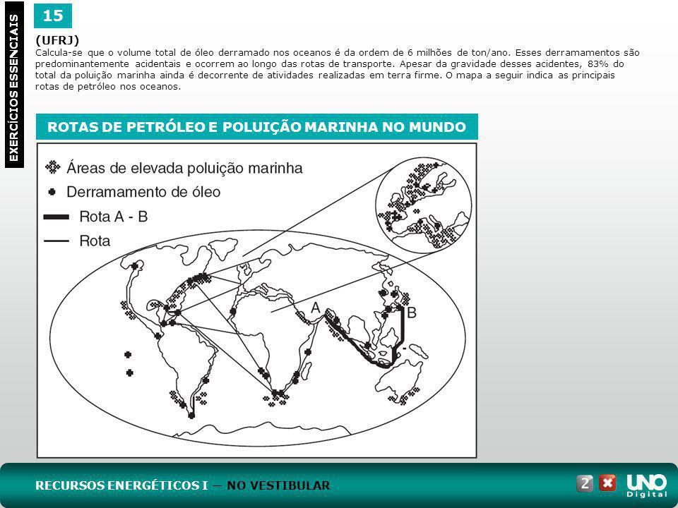 ROTAS DE PETRÓLEO E POLUIÇÃO MARINHA NO MUNDO