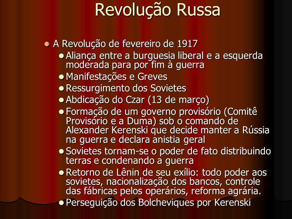 Revolução Russa A Revolução de fevereiro de 1917