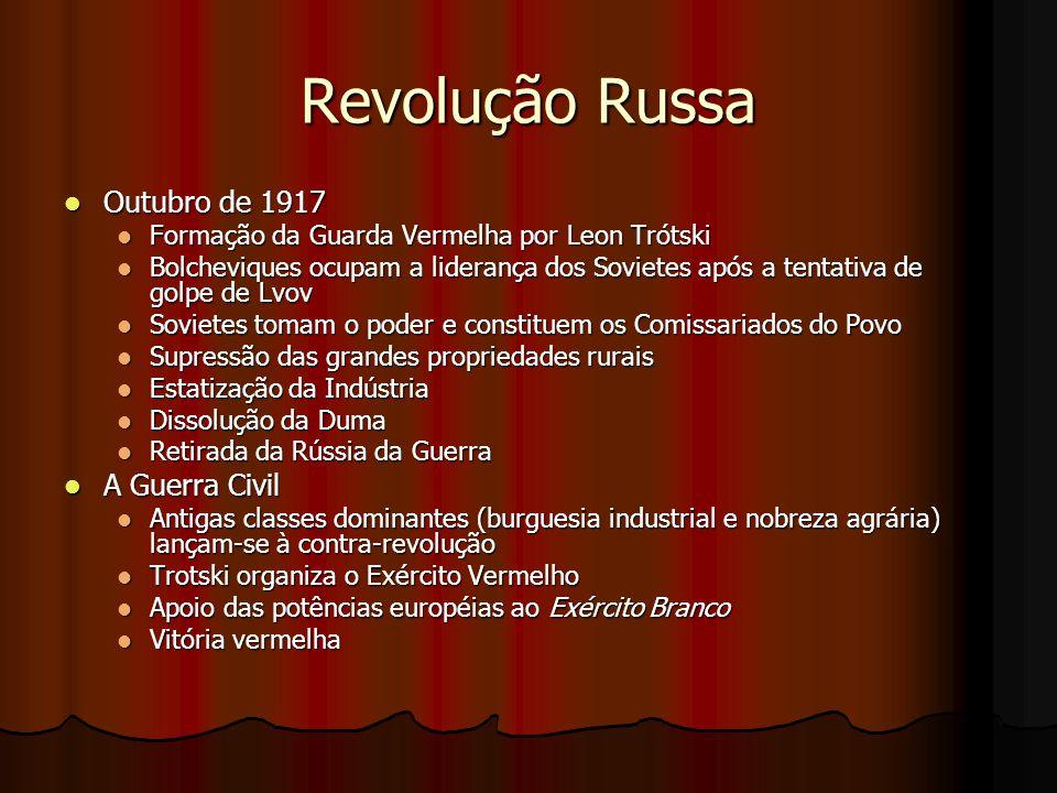 Revolução Russa Outubro de 1917 A Guerra Civil