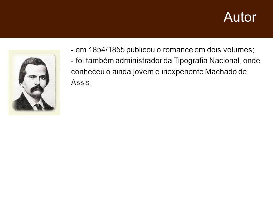 Autor em 1854/1855 publicou o romance em dois volumes;