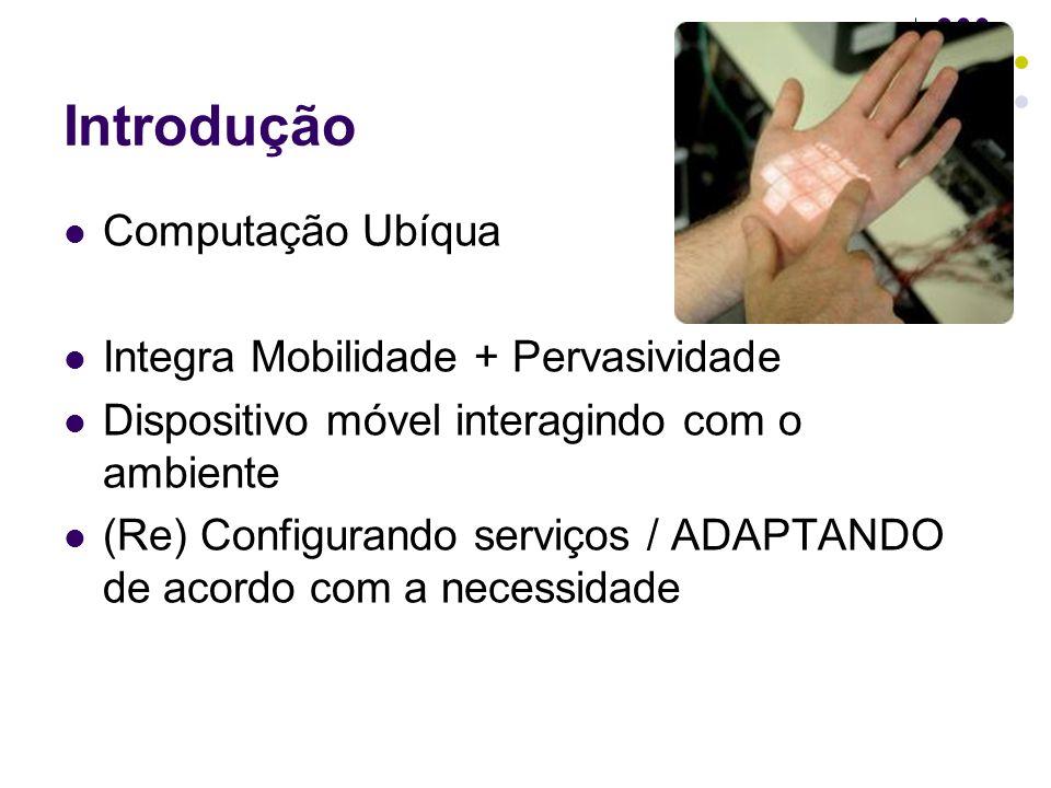 Introdução Computação Ubíqua Integra Mobilidade + Pervasividade