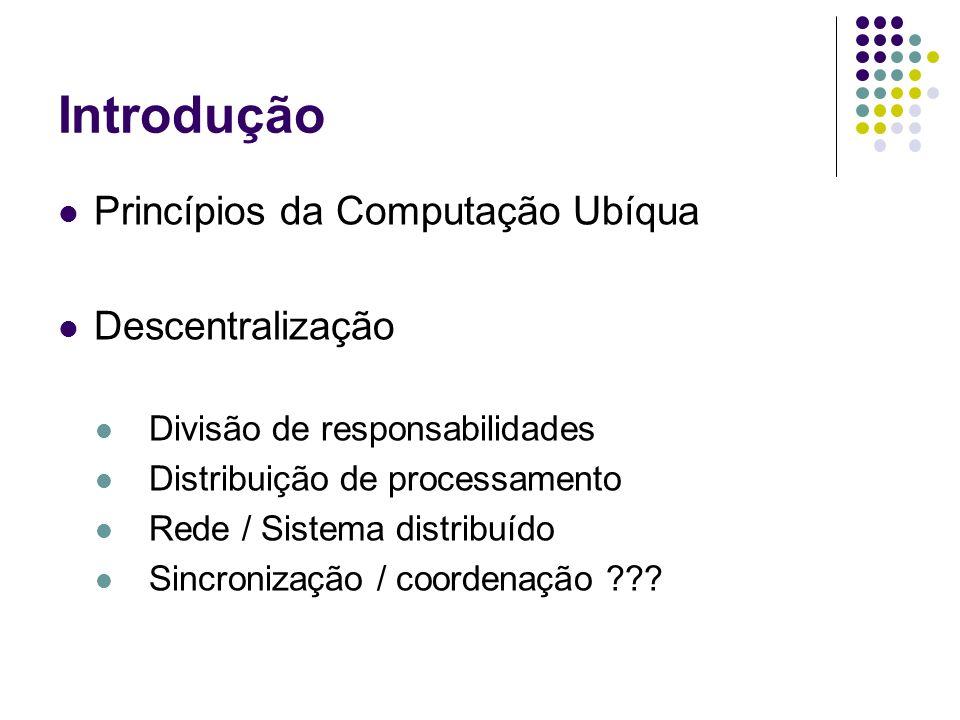 Introdução Princípios da Computação Ubíqua Descentralização