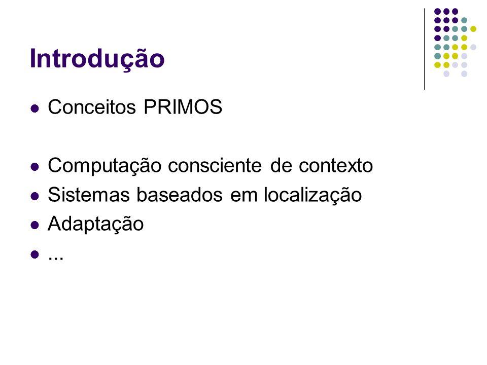 Introdução Conceitos PRIMOS Computação consciente de contexto