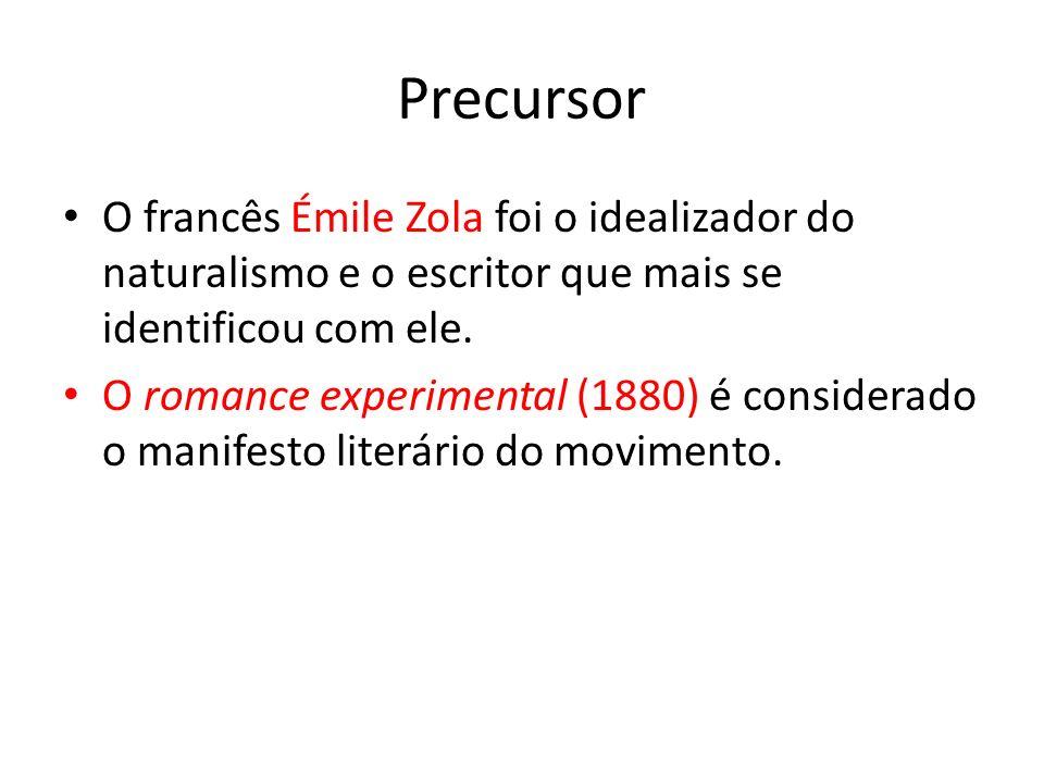 Precursor O francês Émile Zola foi o idealizador do naturalismo e o escritor que mais se identificou com ele.