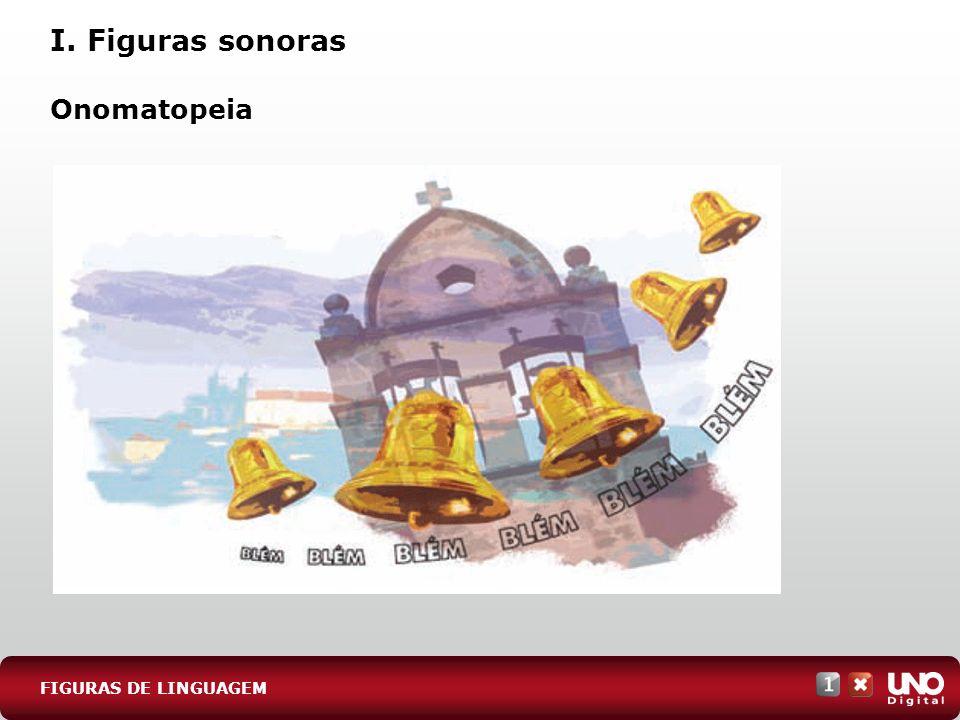 I. Figuras sonoras Onomatopeia FIGURAS DE LINGUAGEM