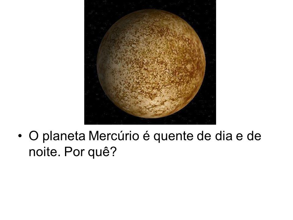 O planeta Mercúrio é quente de dia e de noite. Por quê
