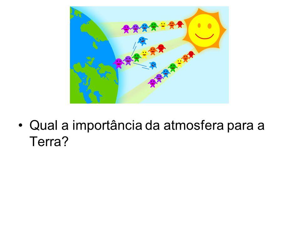 Qual a importância da atmosfera para a Terra