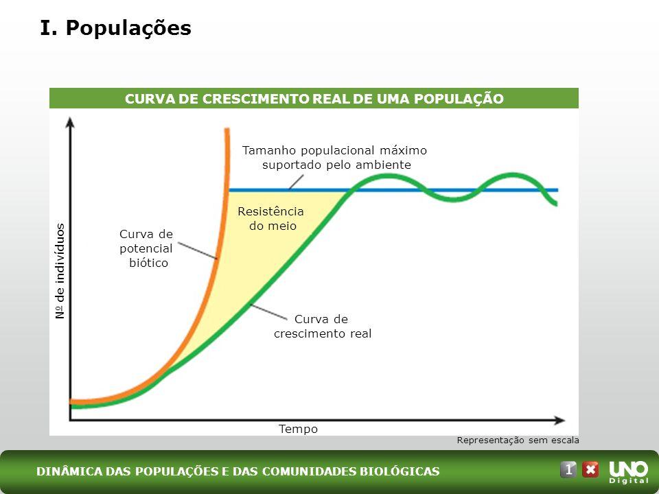 CURVA DE CRESCIMENTO REAL DE UMA POPULAÇÃO