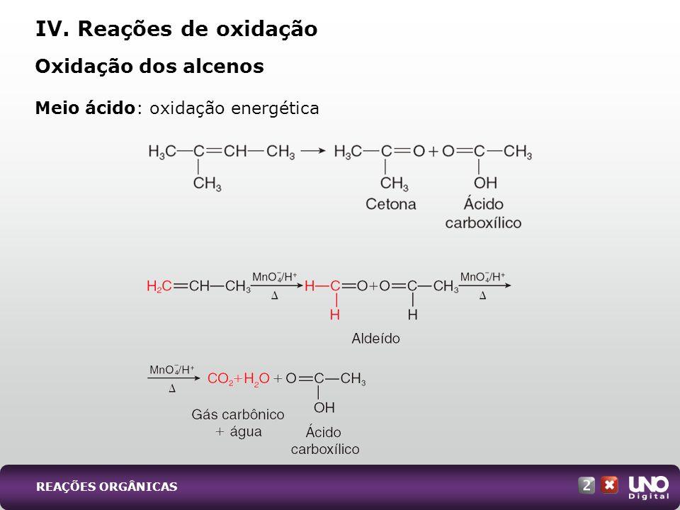 Meio ácido: oxidação energética
